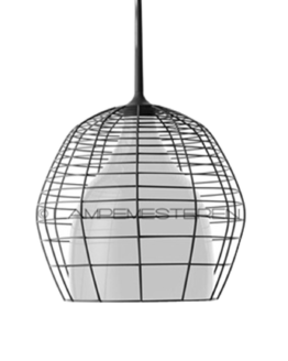 Cage Taklampa Grande Svart/Vit 2m - Diesel With Foscarini