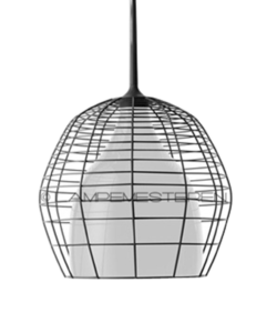 Cage Taklampa Piccola Svart/Vit 2m - Diesel With Foscarini