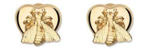 GUCCI Bee Heart Örhängen i 18kt Guld