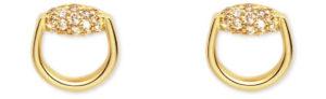 GUCCI Horsebit örhängen 18kt gult guld