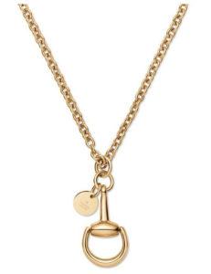GUCCI Horsebit halsband 18kt gult guld