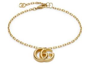 GUCCI Yellow Gold Running G Armband 18kt guld