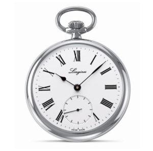 LONGINES Heritage Pocket Watch Roman Hunter L7.012.4.21.1