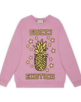 Sweatshirt ml round st. Gucci and pineapple